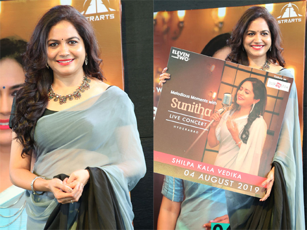 Melodious Moments with Sunitha LIVE Concert Logo Launch Photos